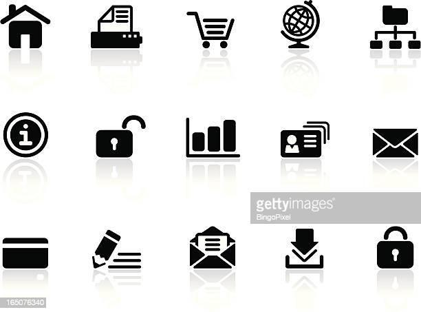 Web & Internet Icons | Black & White Series