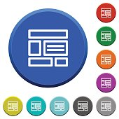 Web layout beveled buttons