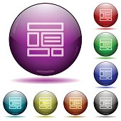 Web layout glass sphere buttons