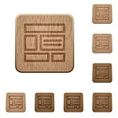 Web layout wooden buttons