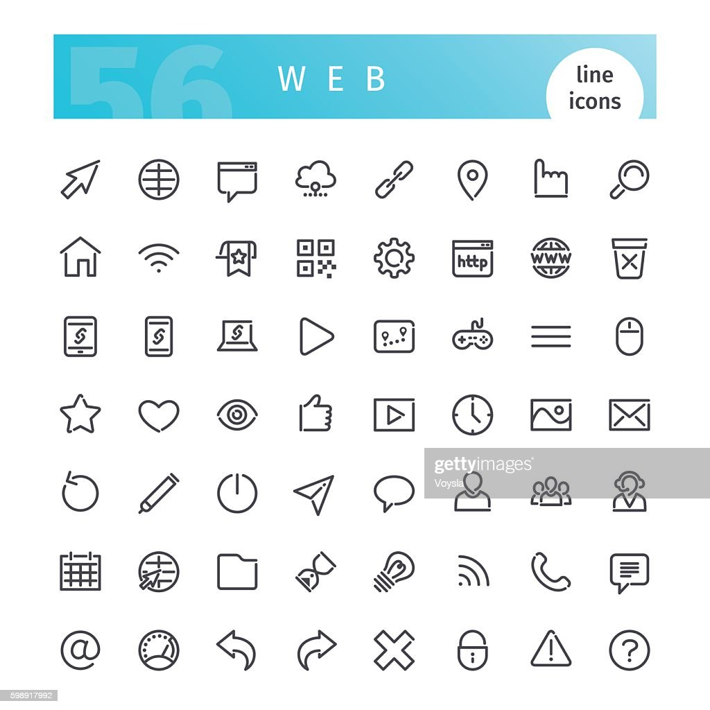 Web Line Icons Set