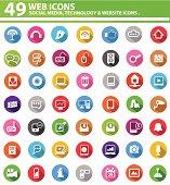 Web media icons,graphic design,vector