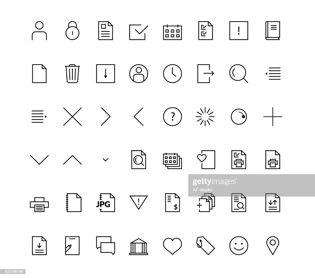 Web mobile friendly icon set