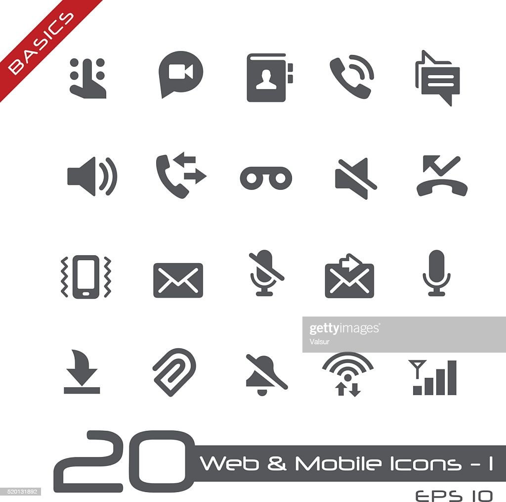 Web & Mobile Icons 1 - Basics