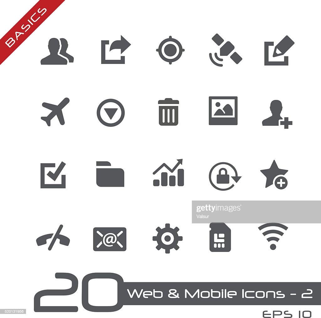 Web & Mobile Icons 2 - Basics