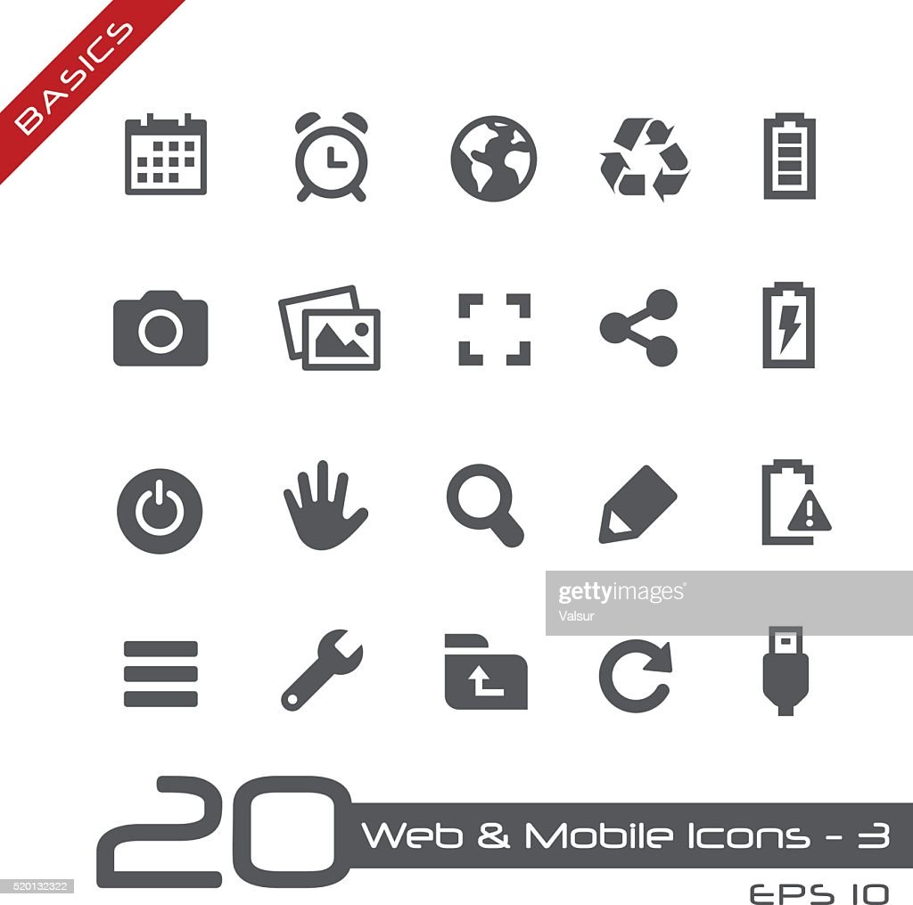 Web & Mobile Icons 3 - Basics