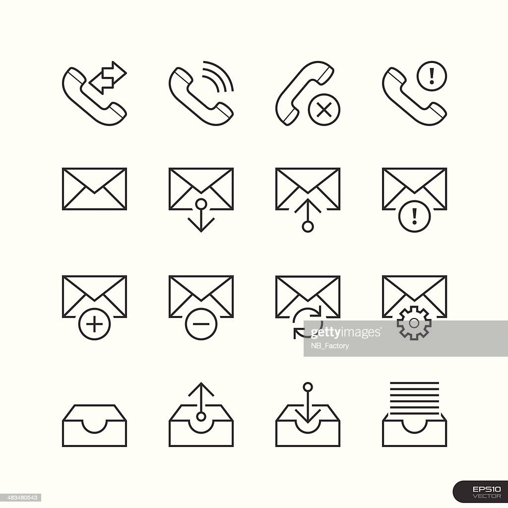 Web & Mobile interface Icons set