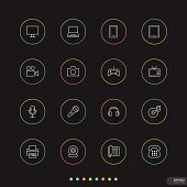 Web & Mobile thin icon sets # 11 Electronic device