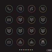Web & Mobile thin icon sets # 3