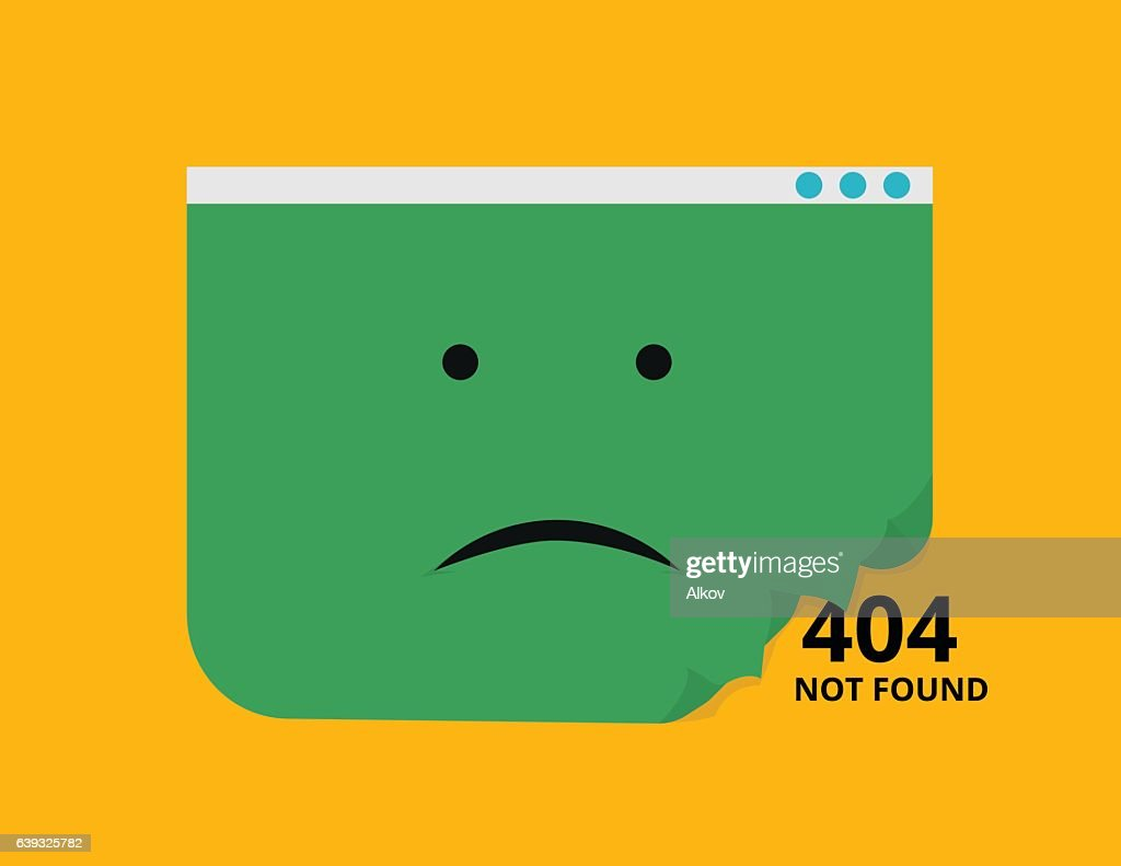 Web page 404 not found vector illustration