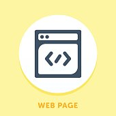 Web Page Curve Icon