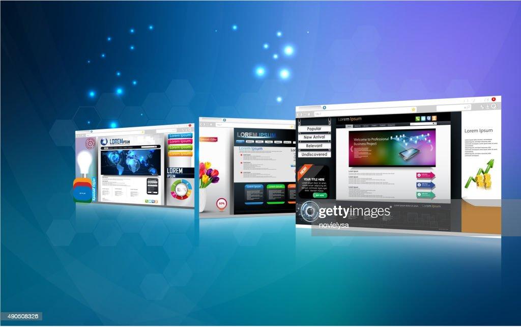 Web page design concept