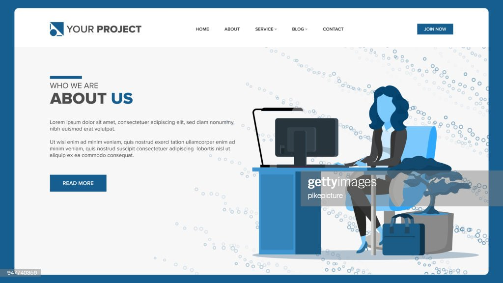 Web Page Design Vector. Business Screen. Internet Traffic. Cartoon Character. Corporate Dividend. Illustration