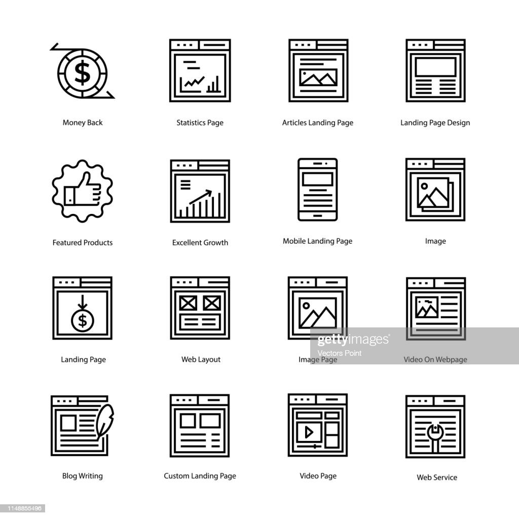 Web Page Line Icons