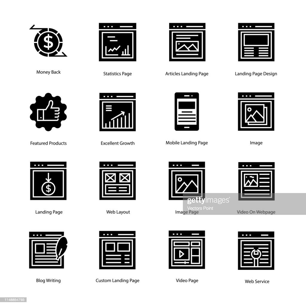 Web Page Solid Icons