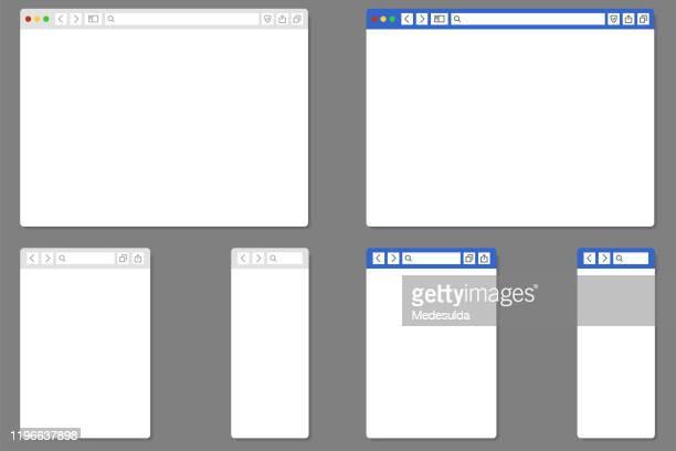 illustrazioni stock, clip art, cartoni animati e icone di tendenza di pagina web - internet