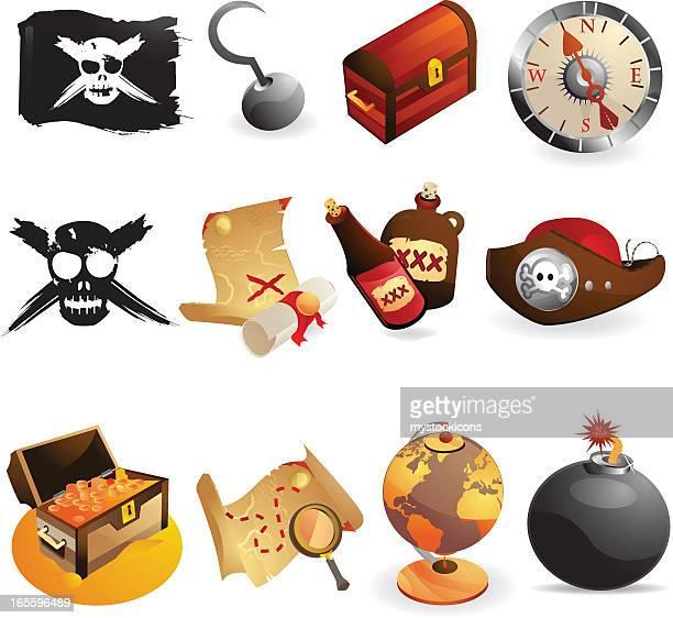 Web iconos de pirata