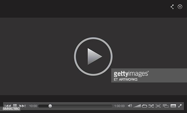 web player - television industry stock illustrations