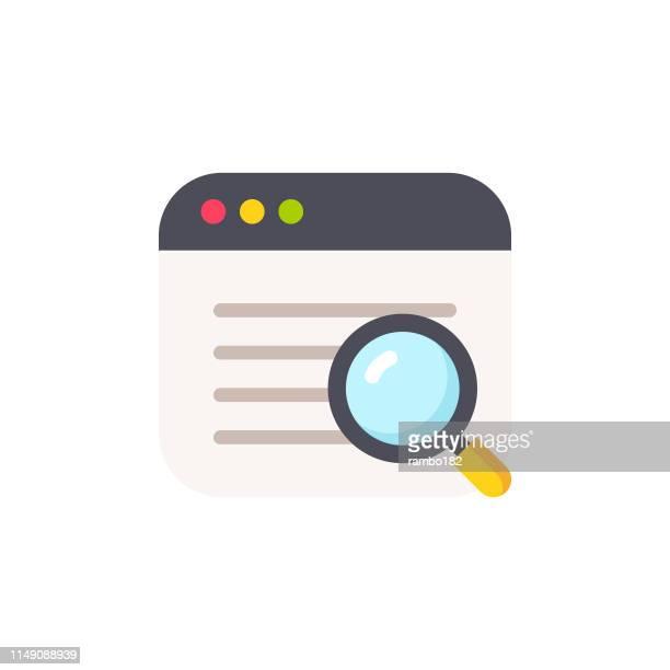 web 検索フラットアイコン。ピクセルパーフェクト。モバイルと web 用。 - 辞書点のイラスト素材/クリップアート素材/マンガ素材/アイコン素材