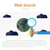 Web search vector infographic illustration.