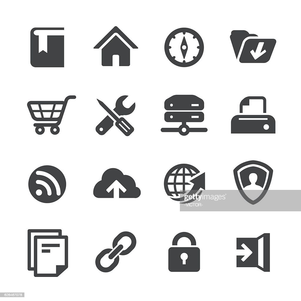 Web Site Icons - Acme Series : stock illustration