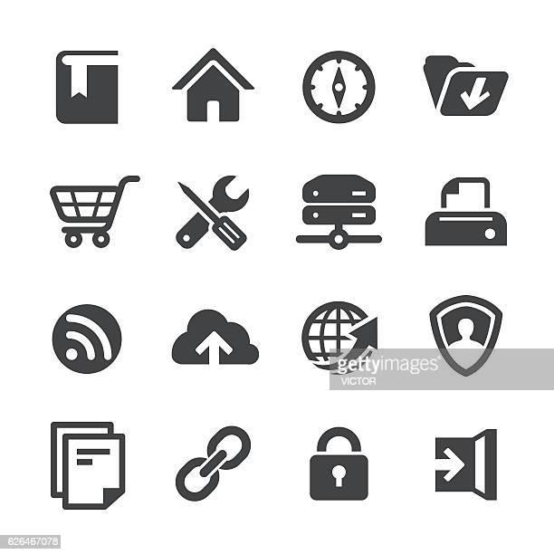 web site icons - acme series - ホームページ点のイラスト素材/クリップアート素材/マンガ素材/アイコン素材