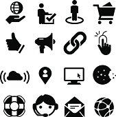 Web Site Icons - Black Series
