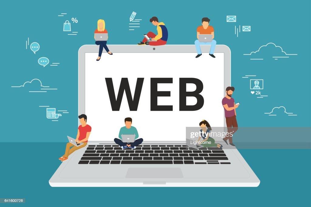 Web site surfing concept illustration