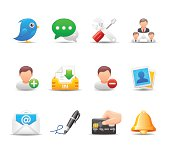 Web & Social Media Icon Set   Elegant Series