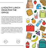 Web template for lunch recipes page.