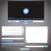 Web Templates Set. Vector Illustration