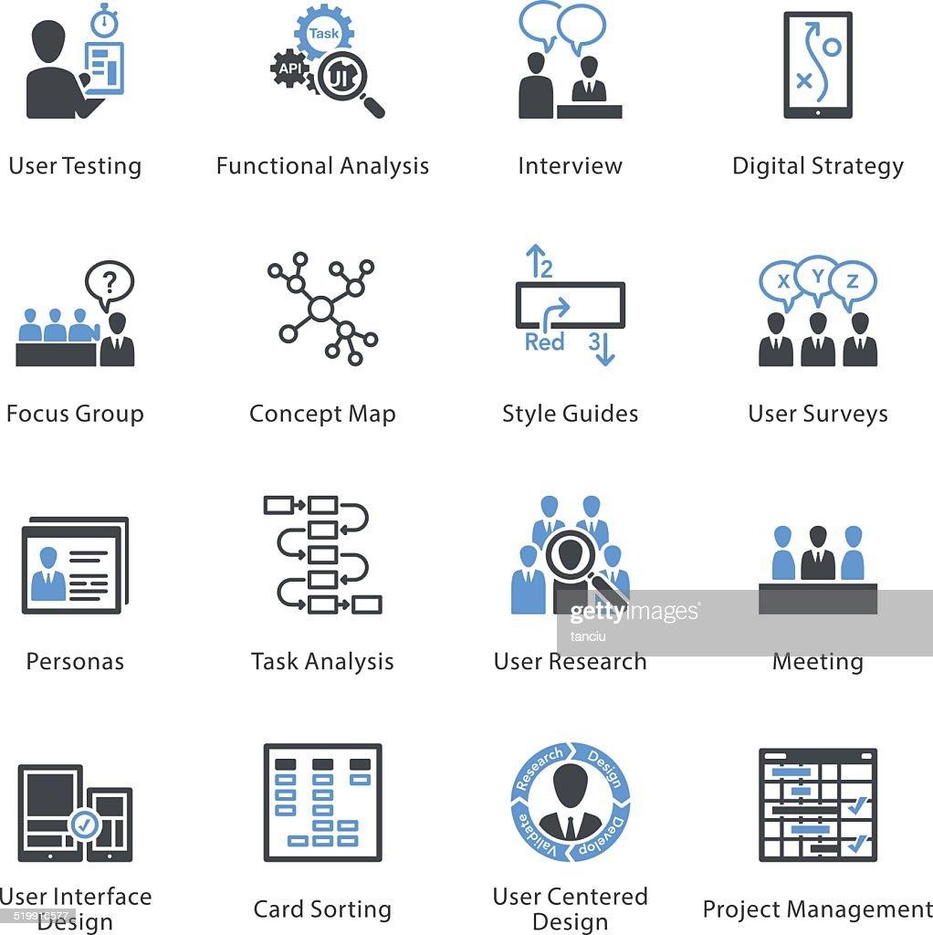 Web Usability & Accessibility Icons Set 1 - Bleu Series