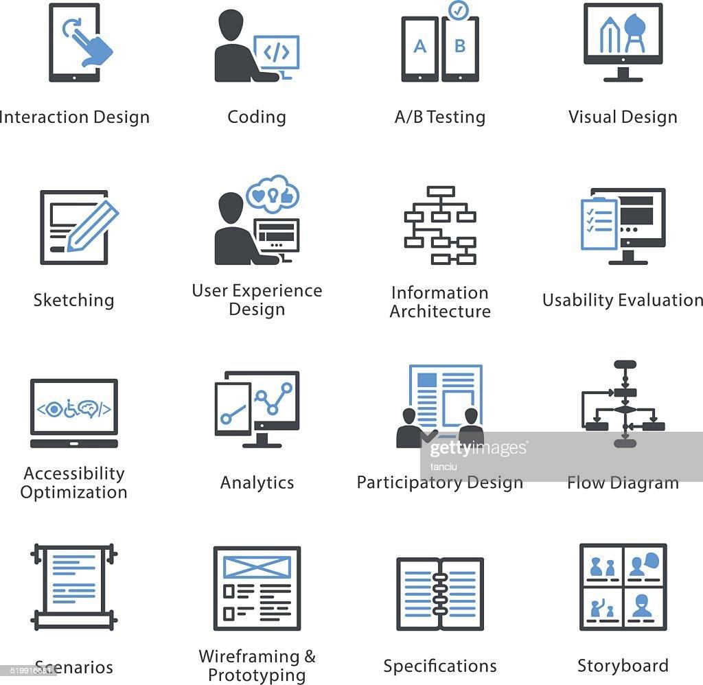 Web Usability & Accessibility Icons Set 2 - Bleu Series