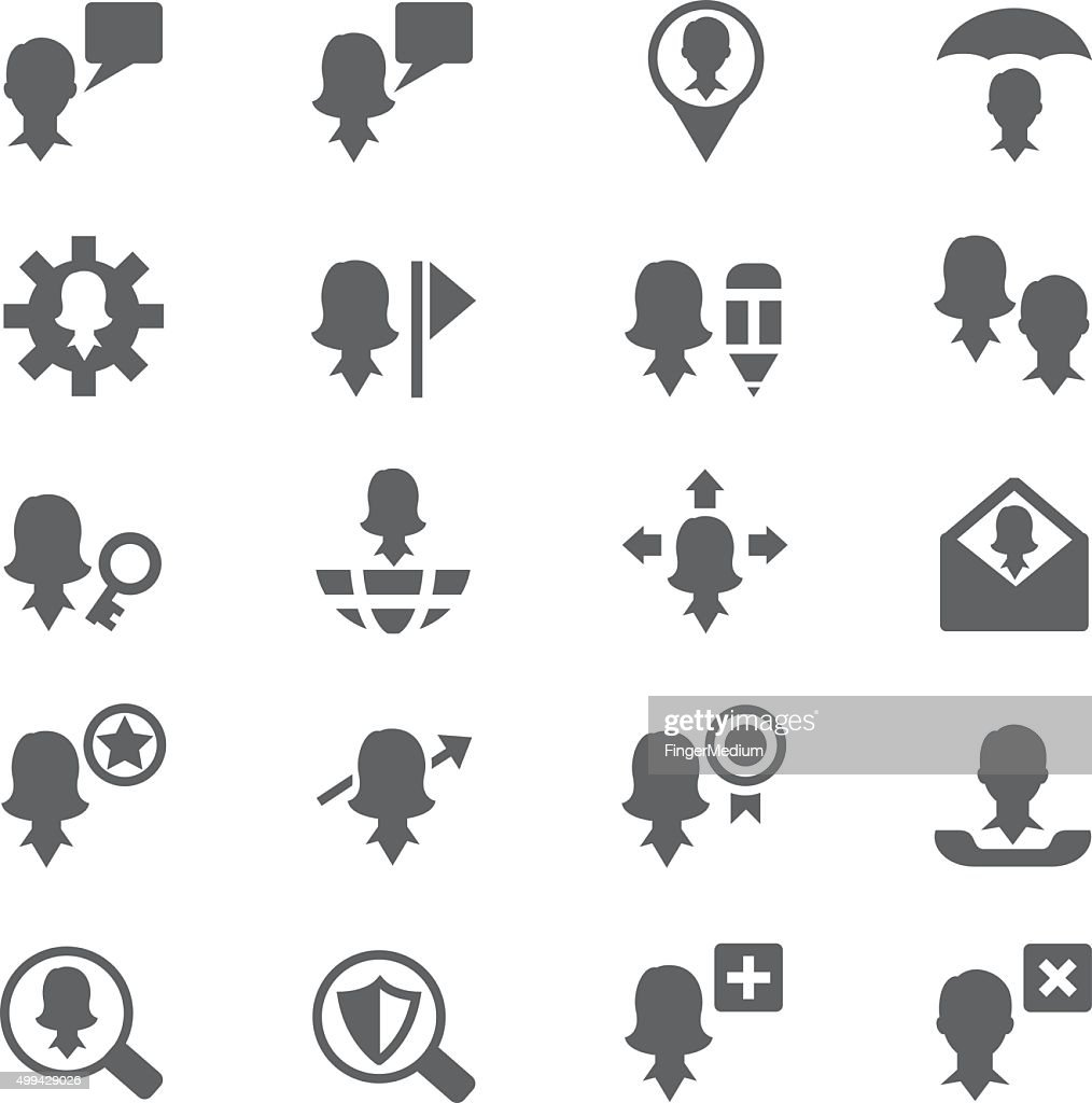 Web user icons