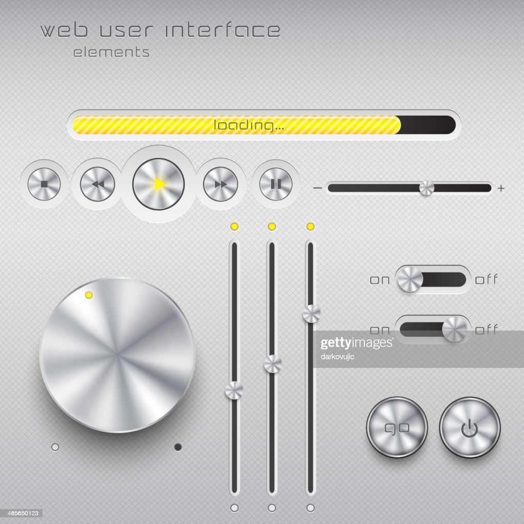 Web user interface design elements. Vector