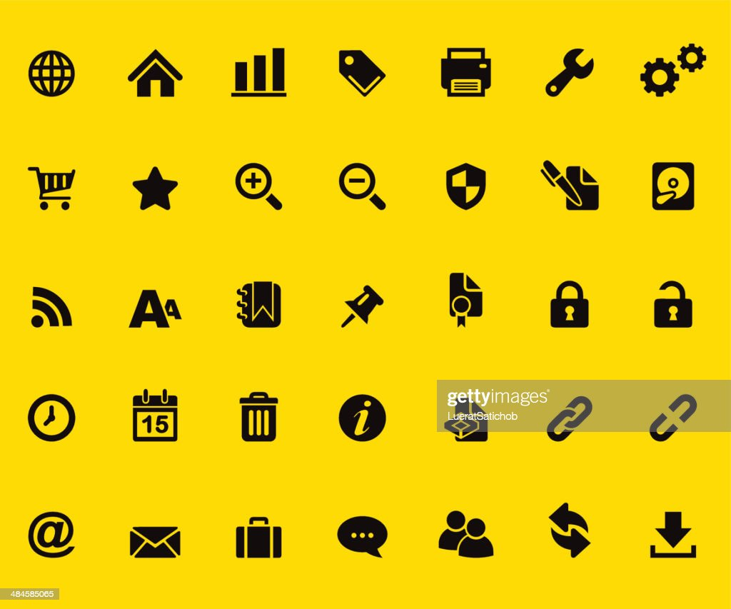 Web Yellow Silhouette icons