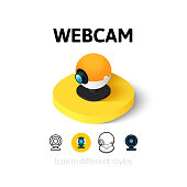 Webcam icon in different style
