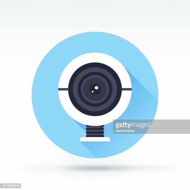 webcam icon - webcam media apparaat stock illustrations