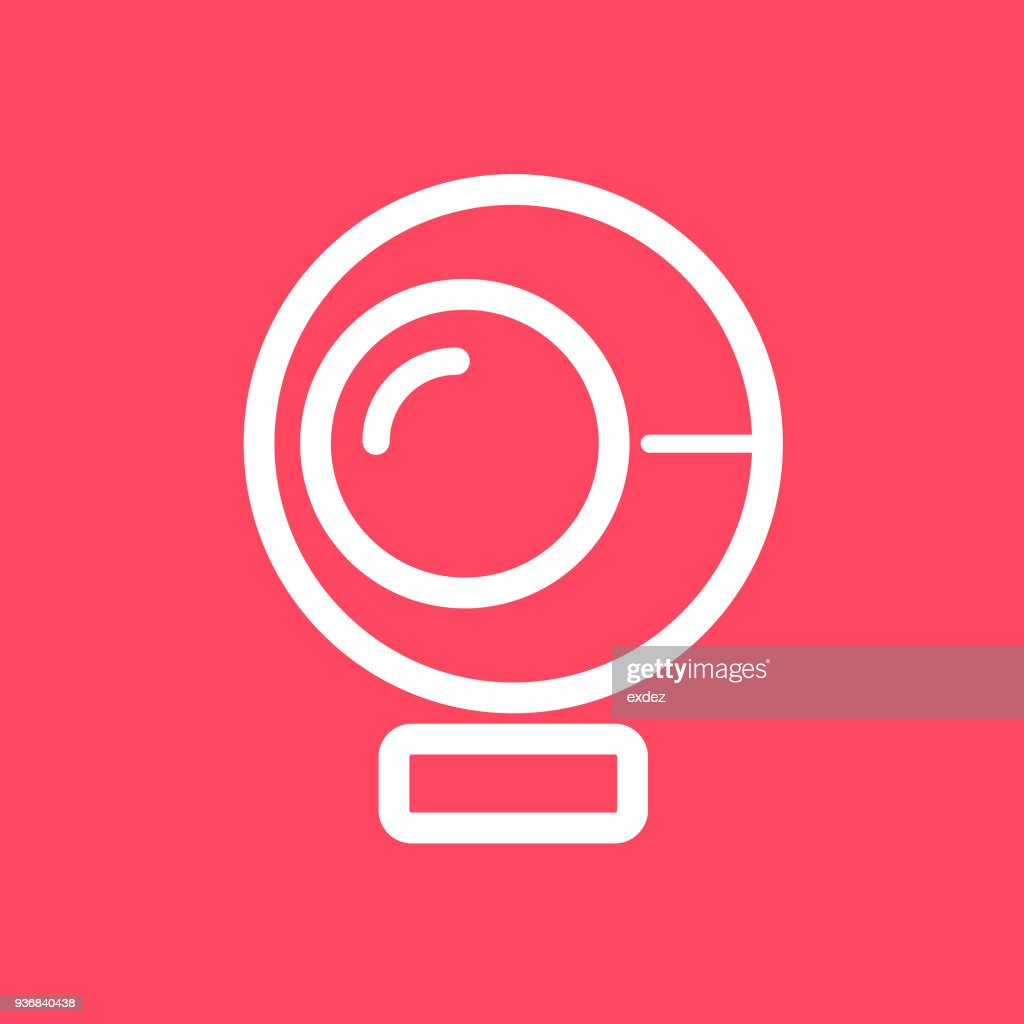 webcam icon : stock illustration