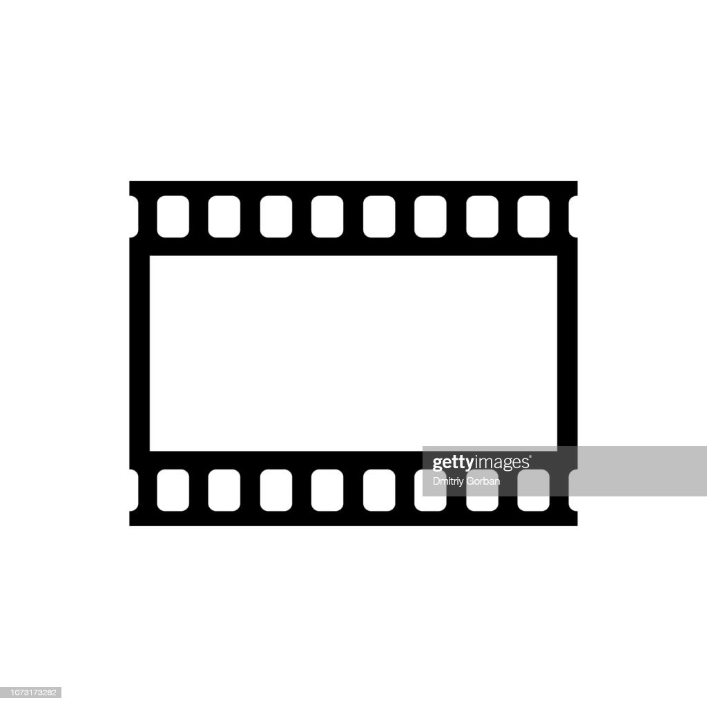 Webicon video player. black movie tape.