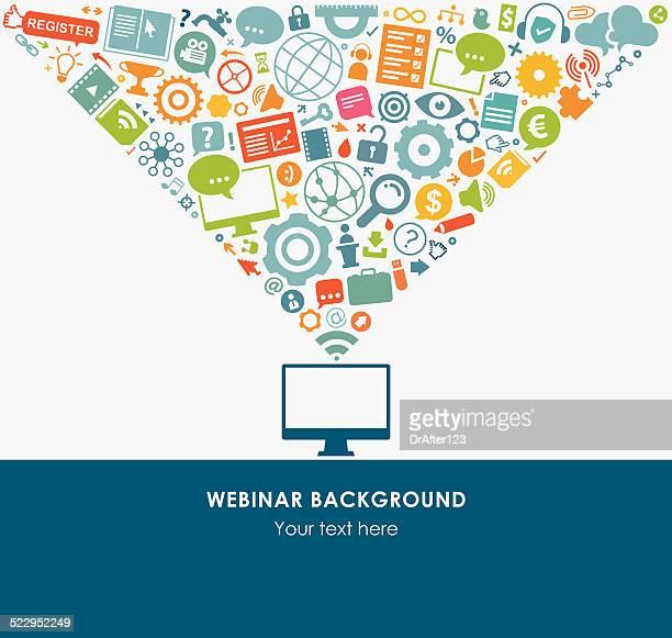 Webinar Background Icon Set