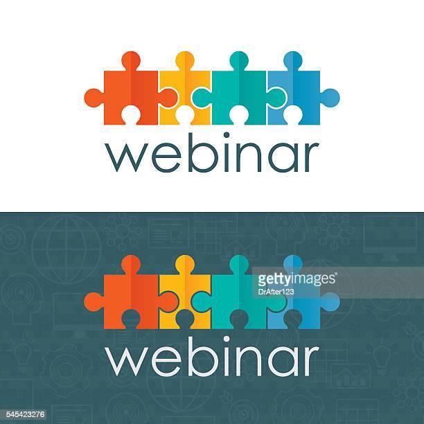 Webinar Logo Puzzles Concept