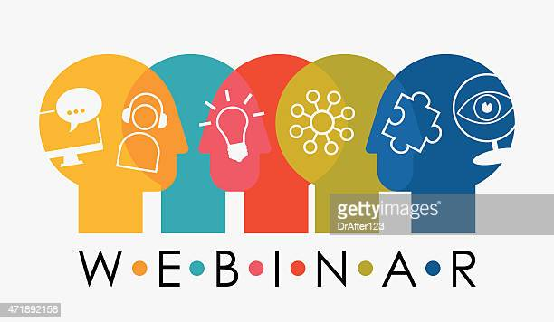 Webinar Multiple Overlapping Heads With Icons