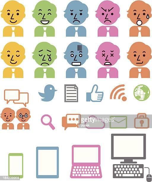 ilustrações, clipart, desenhos animados e ícones de site e ícones de negócios - submita busca