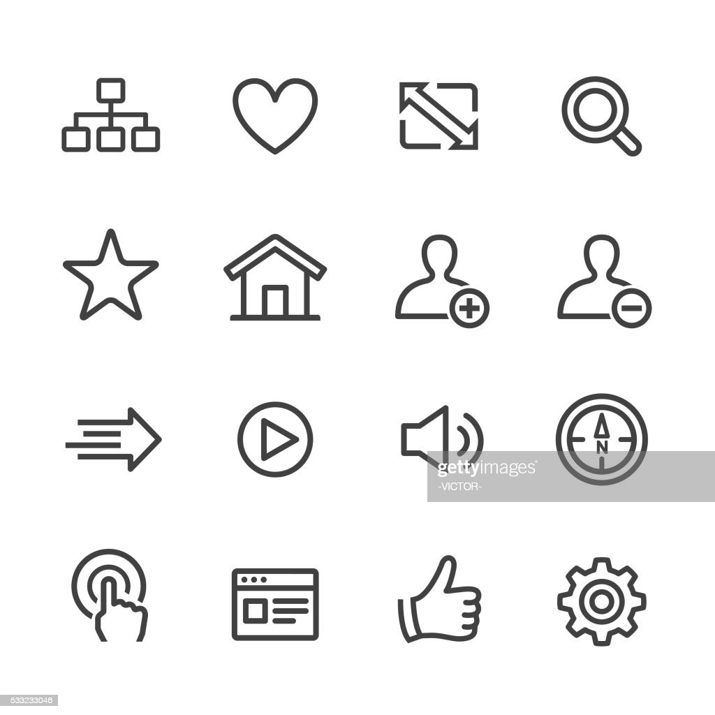 Website and Internet Icons - Line Series