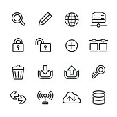 Website and Internet Icons Set - Line Series