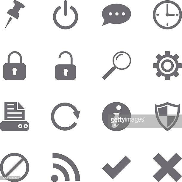 Website and internet icons set