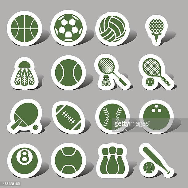 website and internet icons - sports - badminton racket stock illustrations, clip art, cartoons, & icons