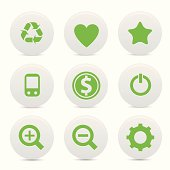 Website buttons,Green version,vector