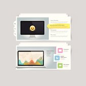 Website design infographics elements: Vcard portfolio template.